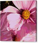 Layers Of Pink Cosmos - Digital Art Canvas Print