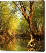 Lazy Afternoon On The Creek 2 Canvas Print