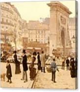 Le Boulevard St Denis - Paris Canvas Print