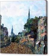 Le Boulevard Vide Canvas Print
