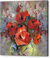 Le Bouquet De Valentine Canvas Print