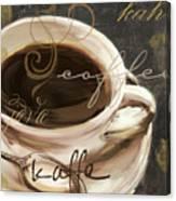 Le Cafe Dark Canvas Print