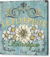 Le Fleuriste De Botanique Canvas Print