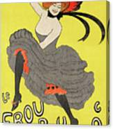 Le Frou Frou Vintage Poster By Leonetto Cappiello, 1899 Canvas Print