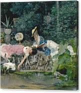 Le Heron Familier Canvas Print