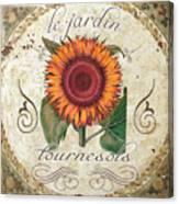 Le Jardin Tournesols  Canvas Print