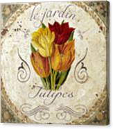 Le Jardin Tulipes Canvas Print