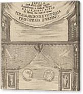Le Nozze Degli Dei: Frontispiece Canvas Print