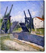 Le Pont De Langlois A Arles Provence France 2004  Canvas Print