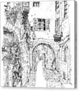 Le Pontis Saint-paul De Vence France Canvas Print