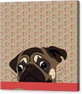 Le Pug Et Le Macaron Canvas Print