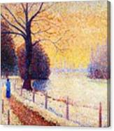 Le Puy In The Snow 1889 Canvas Print
