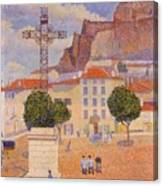 Le Puy The Sunny Plaza 1890 Canvas Print
