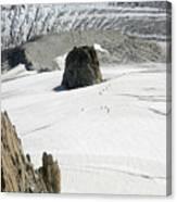 Le Rognon Glacier D'argentiere Vue Depuis L'aiguille Des Grands Montets Argentiere Haute Savoie Canvas Print