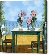 Le Rose E Il Balcone Canvas Print