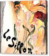 Le Sillon - The Path - Vintage Art Nouveau Poster Canvas Print