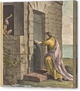 Le Thesauriseur Et La Singe (the Miser And The Monkey) Canvas Print