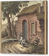 Le Vieux Chat Et La Jeune Souris (the Old Catand The Young Mouse) Canvas Print