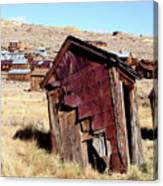 Leaning Bodie Outhouse Canvas Print