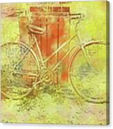 Leaning In Bicycle Canvas Print