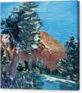 Leaning Pine Tree Landscape Canvas Print