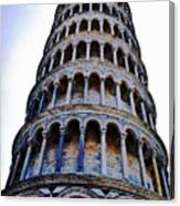 Leaning Tower Of Pisa In Tuscany, Italy Canvas Print