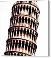 Leaning Tower Of Pisa  Sepia Digital Art Canvas Print