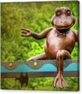 Leaping Frog In Boston  Canvas Print