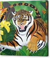 Leaping Tiger Canvas Print