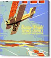 Learn To Fly Vintage Poster Restored Canvas Print