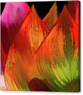 Leaves Aflame Canvas Print