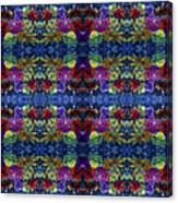 Leaves Batik Tiled Canvas Print