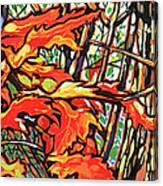 Leaves Long Canvas Print