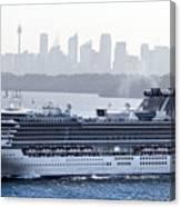 Diamond Princess Leaving Sydney Canvas Print
