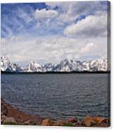Leaving The Grand Tetons Canvas Print