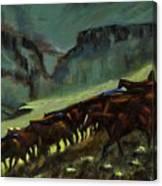 Leaving The Mesa Canvas Print