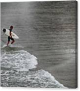 Leaving The Surf Canvas Print