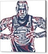 Lebron James Cleveland Cavaliers Pixel Art 54 Canvas Print