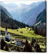 Lech Valley Village Canvas Print