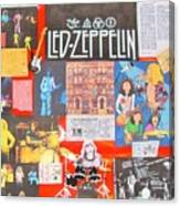 Led Zeppelin Color Collage Canvas Print