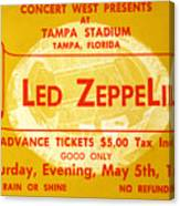 Led Zeppelin Ticket Canvas Print