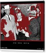 Lee Harvey Oswald Shot By Jack Ruby Photo Taken By  Dallas Times Herald Photographer Bob Jackson  Canvas Print