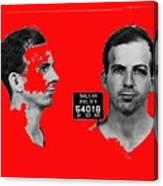 Lee Harvey Oswald's Mug Shot Dallas Texas  November 23 1963 Canvas Print