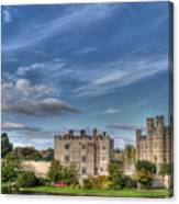 Leeds Castle And Moat Rear View Canvas Print