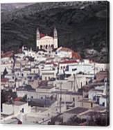 Lefkes Greece Island Of Paros Canvas Print