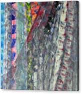 Left Blue Canvas Print