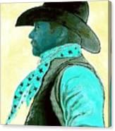 Left Facing Cowboy Canvas Print