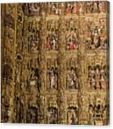 Left Half - The Golden Retablo Mayor - Cathedral Of Seville - Seville Spain Canvas Print