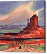 Left Mitten At Sunset Canvas Print