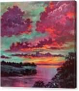 Legend Of A Sunset Canvas Print